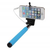 Монопод для селфи с проводом MobilStyle голубой