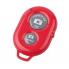 Монопод для селфи с кнопкой bluetooth красный