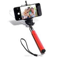 Монопод для селфи с проводом MobilStyle красный