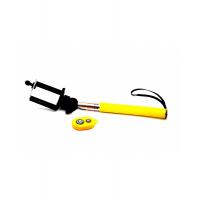 Монопод для селфи с кнопкой bluetooth желтый