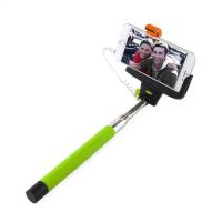 Монопод для селфи с проводом MobilStyle зеленый